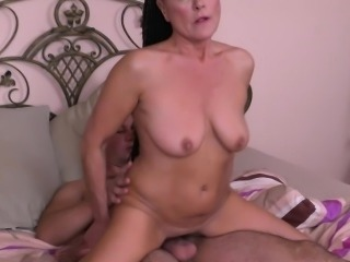 Hot braided hair mature gets fucked hard