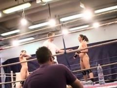 Amateur lesbian babes wrestling naked