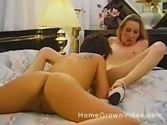 Adoring lesbian women love playing with each other's cunts
