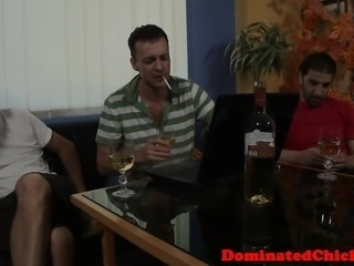 Humiliated eurobabe assfucked and jizzed on