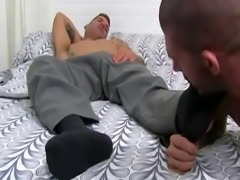 Muscle mens bear feet and gay foot jobs first time Caleb Gets A Surpri