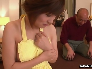 Kaede Oshiro loves her vibrator and she wants this old fart's dick