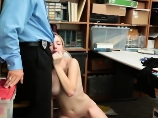 Blonde Thief Zoe Parker Gives Head In Office