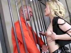 Sexy police officer is enjoying some hot fuck session with a convict
