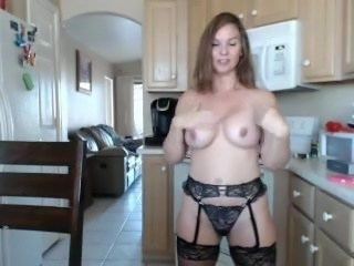 Milf next door in lingerie