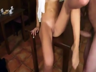 Arab dubai first time Hungry Woman Gets Food and Fuck