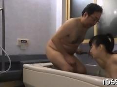 Pal with big jock between legs screws his girlfriend