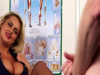 Uniformed nurse mistress