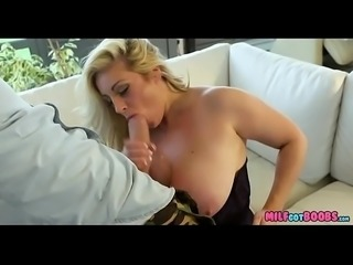 Blonde MILF with Huge Jugs