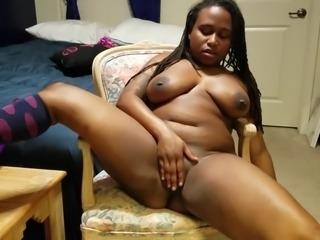 huge ebony orgasm moans