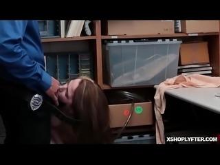LP Officer let Alina West suck his cock