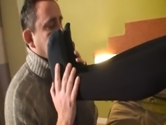 Black socks worship