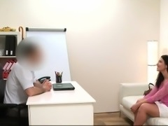 Brunette gave deep throat gift to fake agent