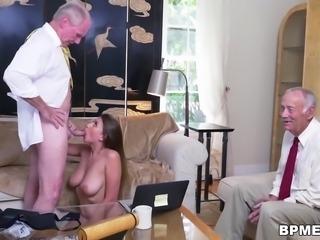 Busty Teen Ivy Rose Sucks And Fucks Old Man