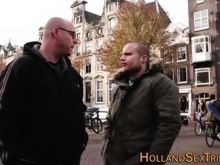 Banged hooker sucks cock