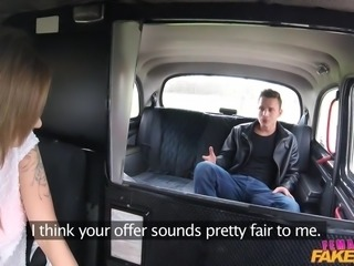 Blonde temptress Angel cruises the city in a fake taxi whenever she wants to get laid. She picks up Pavlos, who soon realizes that today is his lucky day. She stops the car and joins him in the back seat, where he gets to know her much more intimately, by devouring her horny pussy.
