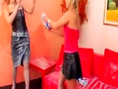 Cheating friend gets the milk punishment