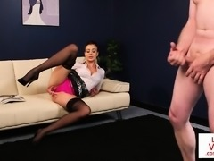 British cfnm voyeur humiliates guy with joi
