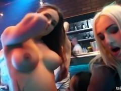 Bi club chicks fucking in public