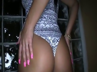 Pov latina on her knees