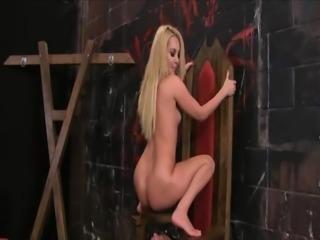Dom Blonde ass worship