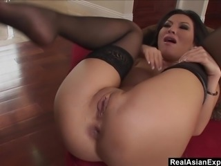RealAsianExposed - Hot Babe Asa Akira goes to work on a big