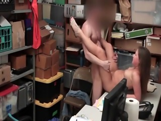 Teen Brooke Bliss punished with cock for theft