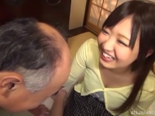 Chewing a Japanese sweetheart's bushy muff and drilling it good