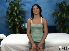 Charming drilled hard by her masseur