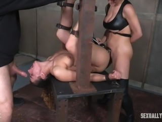 I can bet, that today's victim of bondage legend Matt Williams, brunette babe Dakota Marr, will be not broken, but really satisfied during this crazy bdsm session. Relax and enjoy impetuous sex action and punishment!