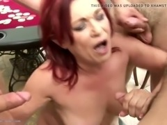 Boys fuck and piss on two grandmothers