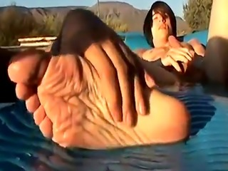 Gay twink feet fisting Cock Stroking Foot Worship