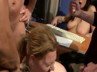 Humiliated subs DP fucked and pissed on