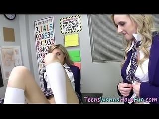 Cock sucking teen plowed