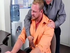 Straight guys was sleep while jerked off gay xxx First day at work