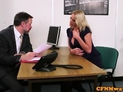 European cfnm milfs wanking off hard dick