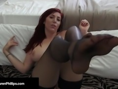 Busty Red Head Lauren Phillips Displays Her Hot Flexibility!