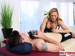 Hot milf deepthroat and massage