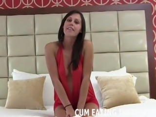 You will eat your cum until you love it CEI