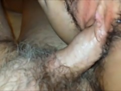 Amateur hairy pussy fucked hardcore in homemade hammering