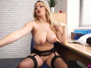 This curvy maid is incredibly sensual and she loves masturbating