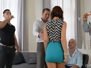 This sexually adventurous slut is having the best gangbang of her life