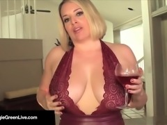 Curvy Cutie Maggie Green Self Worships Her Tits & Cums Hard!