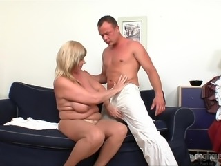 This sensual massage was done so good, that this busty blonde milf Lily, was determined to thank the masseur with a proper blowjob. He eagerly agreed and pulled out his already hard penis. He also was dreaming to put it between her huge meaty titties and... Relax and have fun!