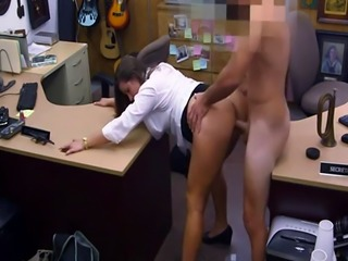 Biggest facial cumshot and blackmailed to pay rent xxx PawnShop Confes