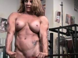 Naked Female Bodybuilder Sexy Red Headed Muscle