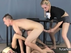 Sweeties nail men asshole with huge strap-ons and burst ejac