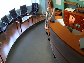 Redhead hospital patient cockriding doctor