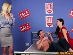 CFNM milf fucked at the furniture store