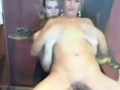 Blonde Big Boobs Rubs Clit